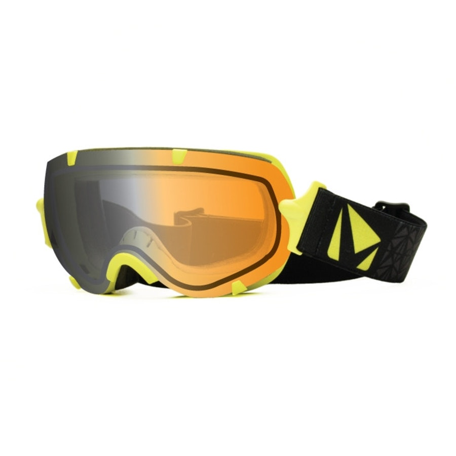 Large Stunt Goggle: Yellow w/ Photochromic Lens