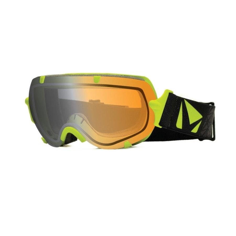 Large Stunt Goggle: Green w/ Photochromic Lens