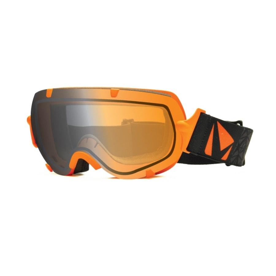Large Stunt Goggle: Orange w/ Photochromic Lens