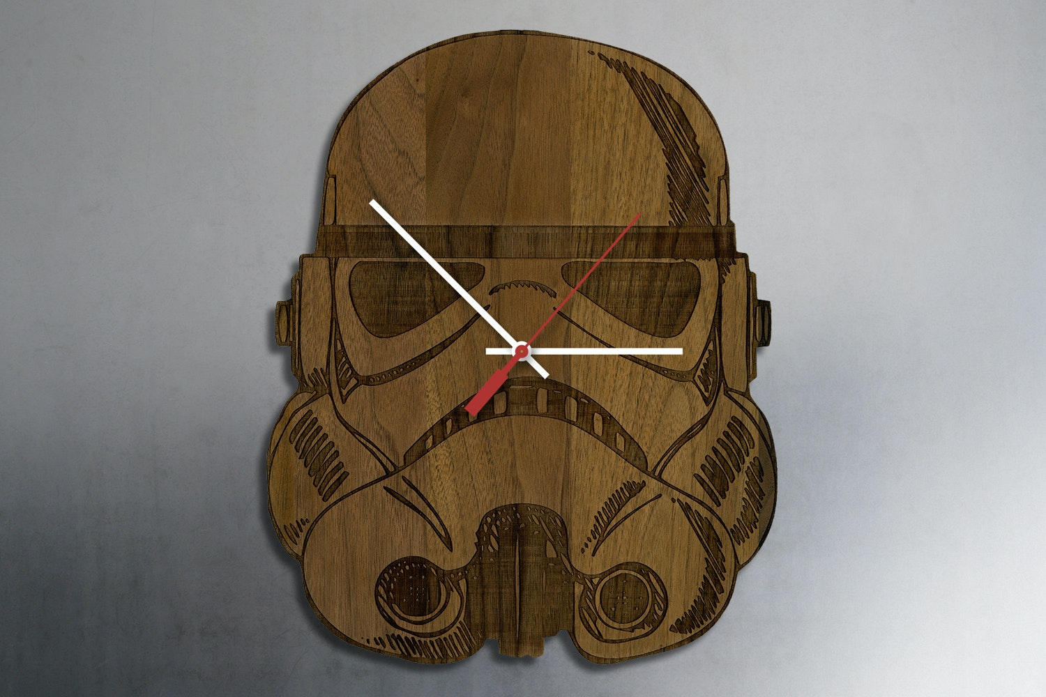 Sci-Fi Laser Engraved Wood Clocks