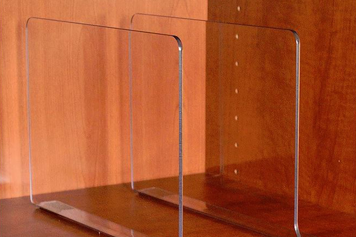 Acrylic Shelf Dividers (2-pack) (+ $20)