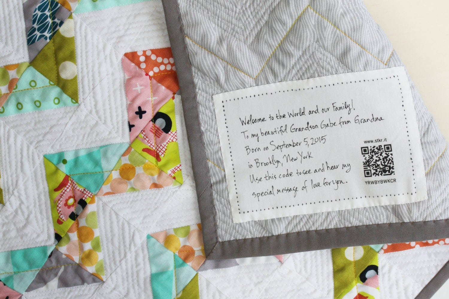 StoryPatches Quilt Labels