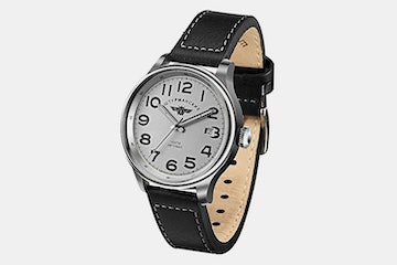 2416/2345338 (gray dial, black leather strap)