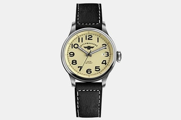 2416/2345337 (beige dial, black leather strap)