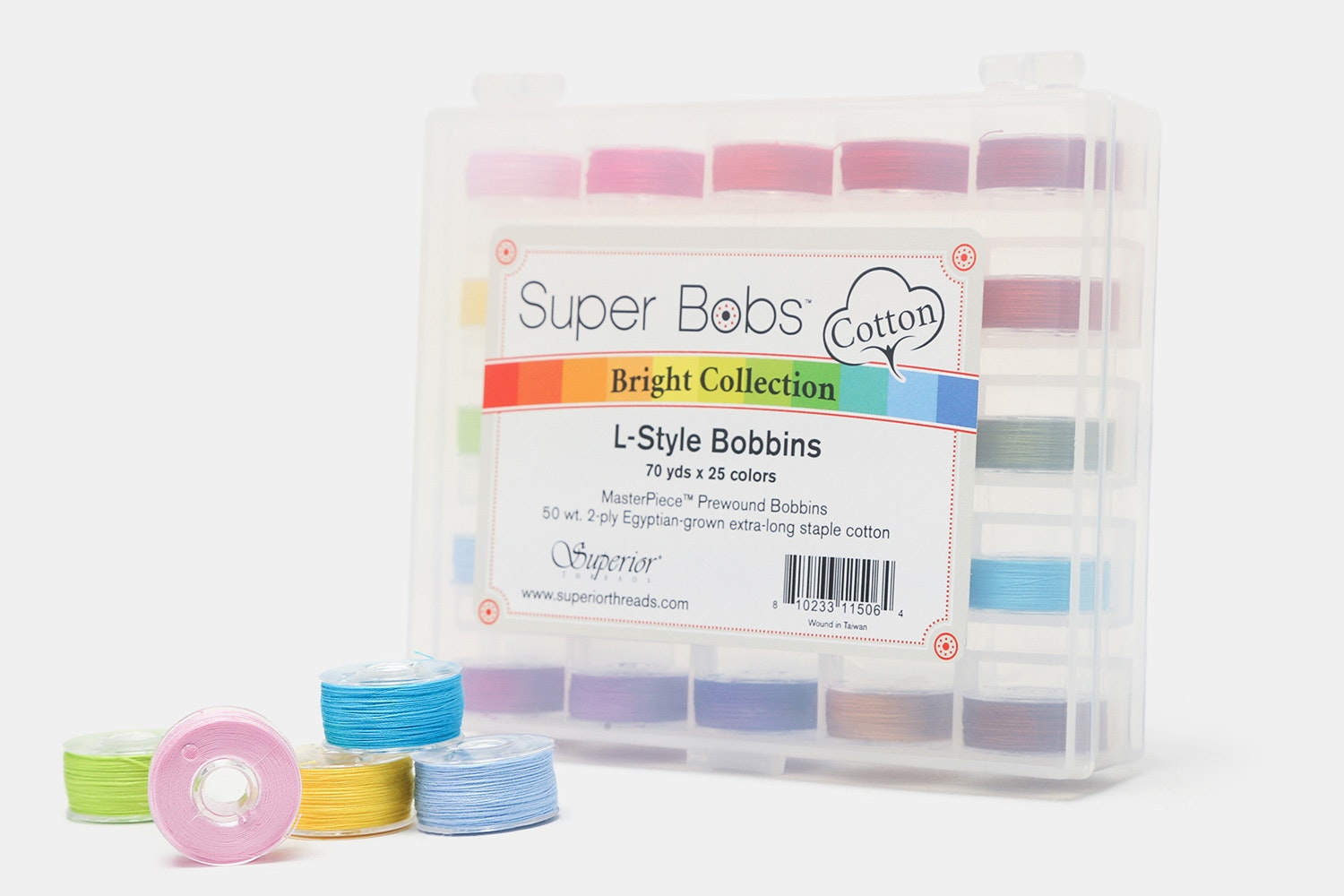 Super Bobs Cotton Prewound Bobbin Set