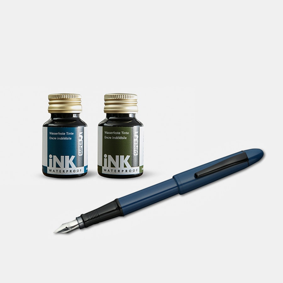 Super5 Fountain Pen & Ink Bundle