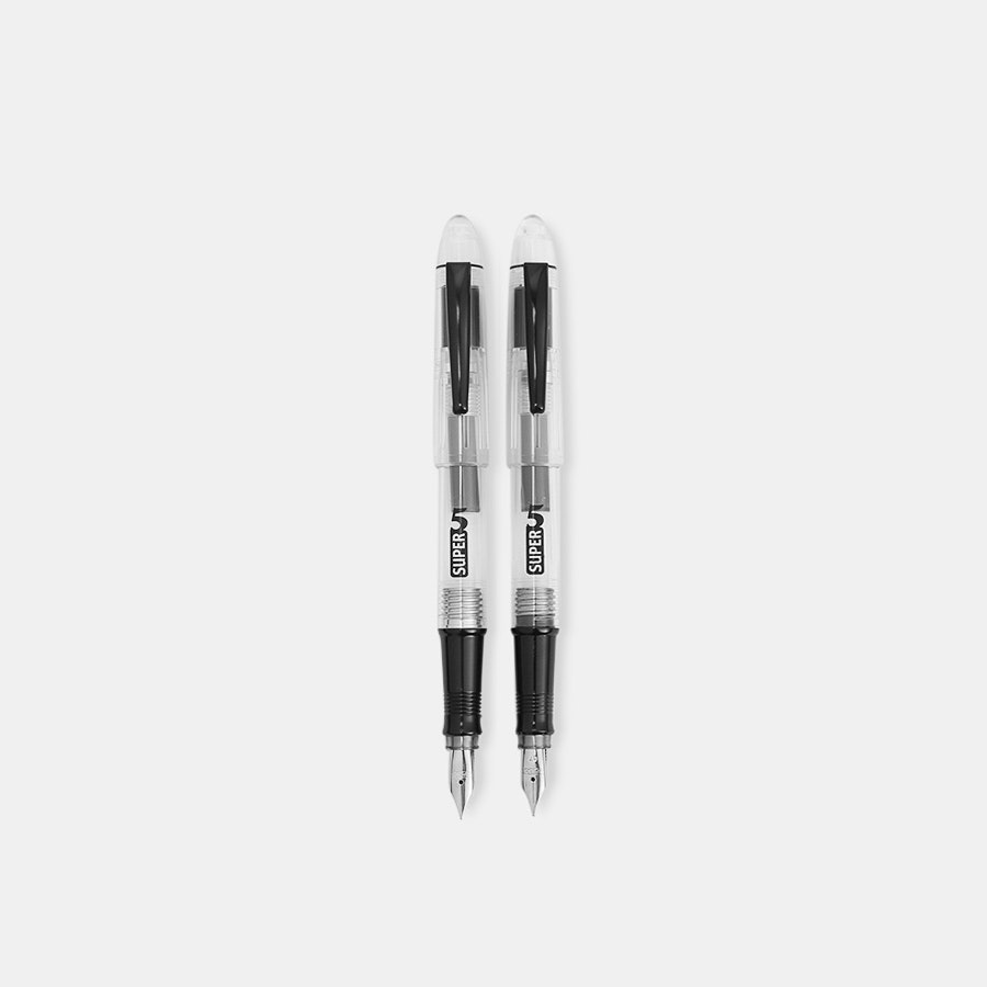 Super5 Transparent Fountain Pen (2-Pack)