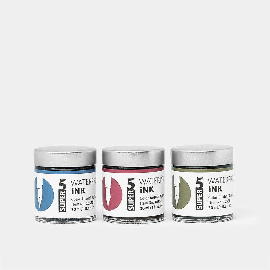 Super5 Waterproof Ink (3-Pack)
