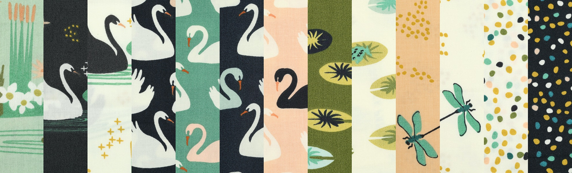 Swan Lake Fat Quarter Bundle by Birch Fabrics