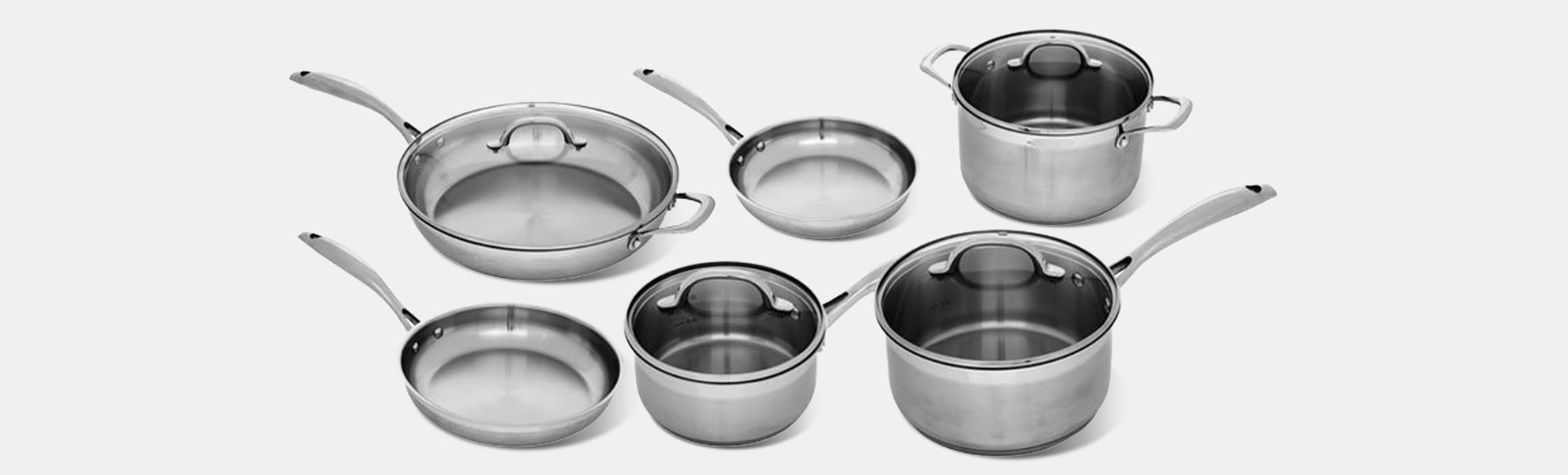 Swiss Diamond Steel 10pc Cookware Set – Flash Sale