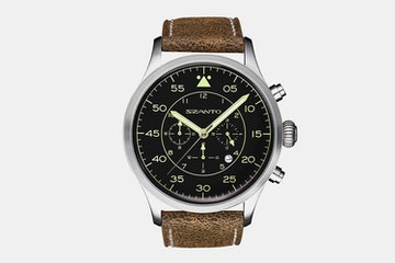 2602 | Black Dial, Brown Leather Strap