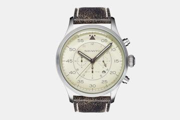 2603 | Cream Dial, Black Leather Strap