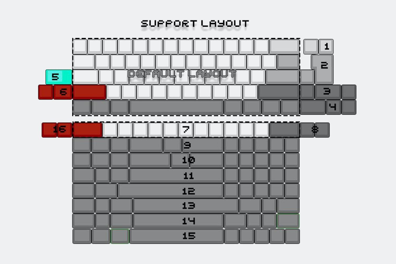 TINA T60 60% Custom Mechanical Keyboard Kit