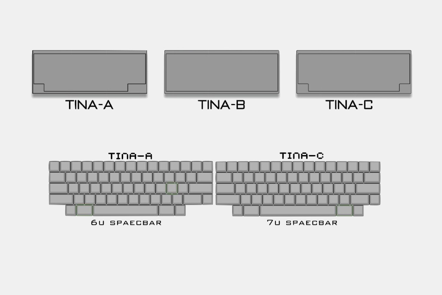 TINA T60 60% Custom Mechanical Keyboard Kit