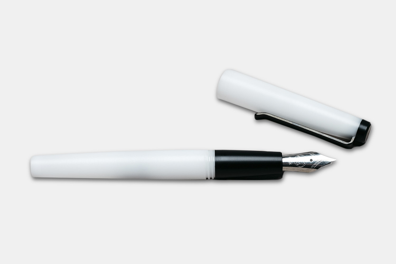 Fountain Pen - White + Black Delrin