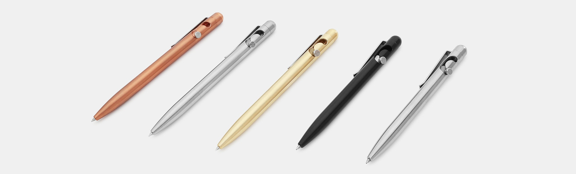 Tactile Turn Slider & Glider Bolt-Action Pens