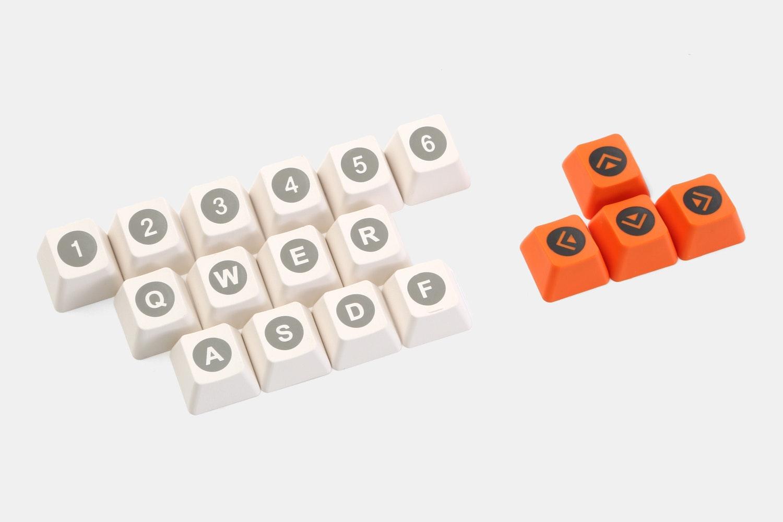 White/Black/Orange