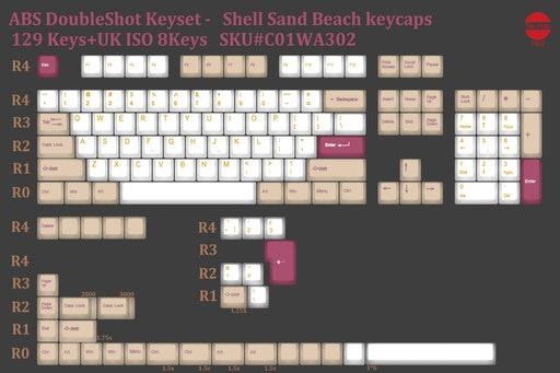 Tai-Hao ABS Shell Sand & Vintage Camel Keycap Sets