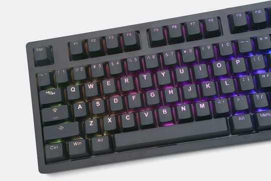 Tai-Hao Black PBT Doubleshot Backlit Keycap Set