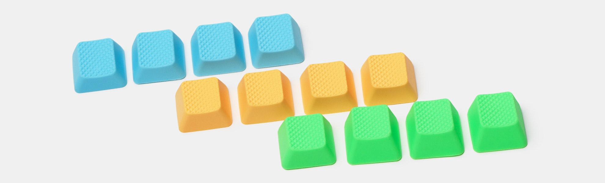 Tai-Hao Blank Rubber Gaming Keycaps (2-Pack)