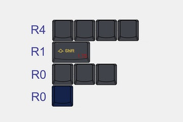 Tai-Hao Cubic ABS Doubleshot Keycap Set