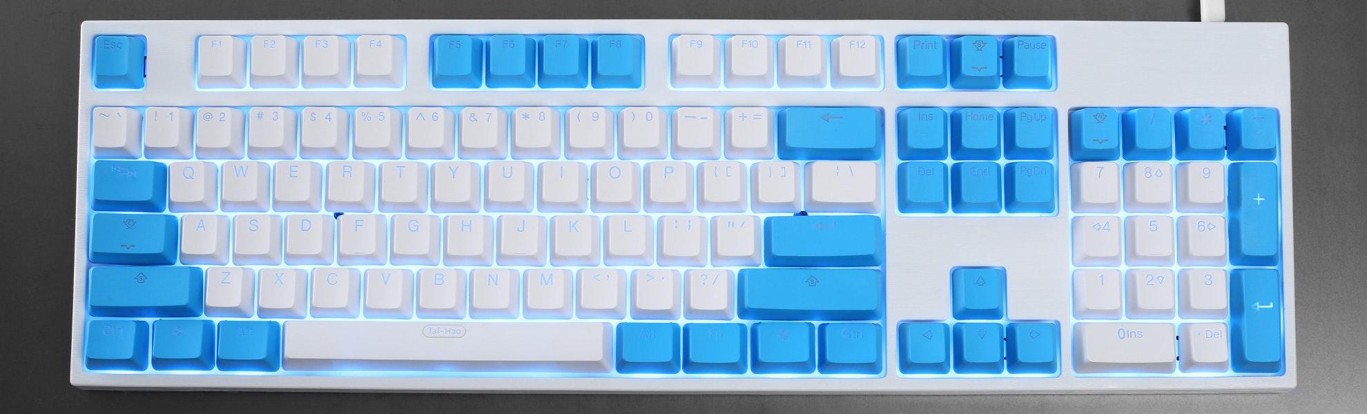 Tai-Hao Doubleshot PBT Shine-Through 108-Keycap Set