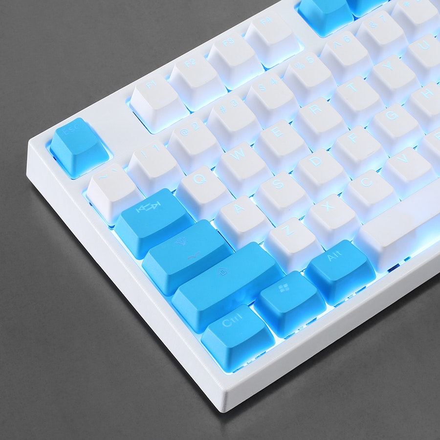 Tai-Hao Doubleshot PBT Shine-Through 108-Keycap Set