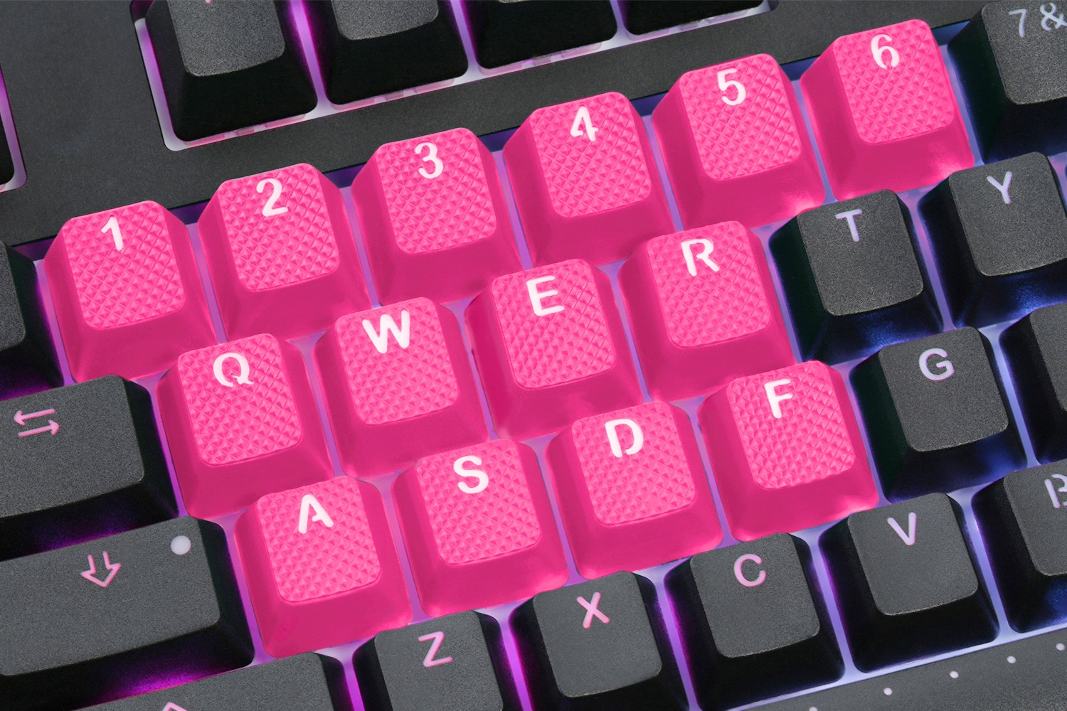 Tai-Hao Neon Rubber Backlit Gaming Keycap Set