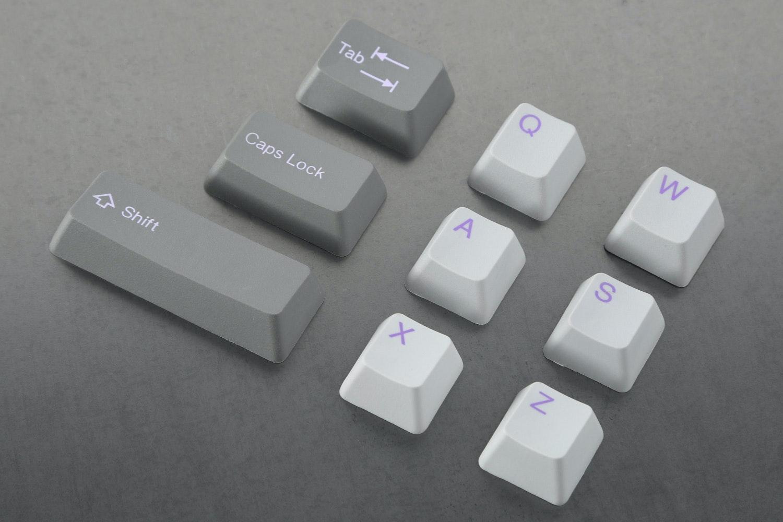 Cement/Lavender alpha keys with Slate/Lilac modifier keys