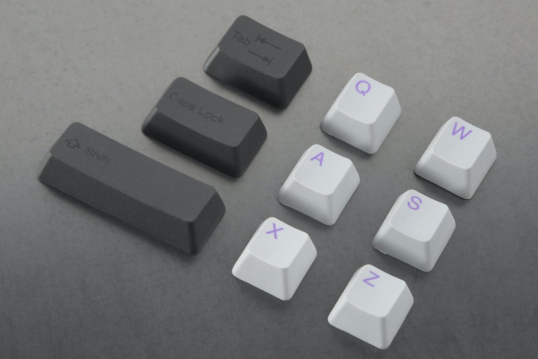 Cement/Lavender alpha keys with Onyx/Onyx modifier keys