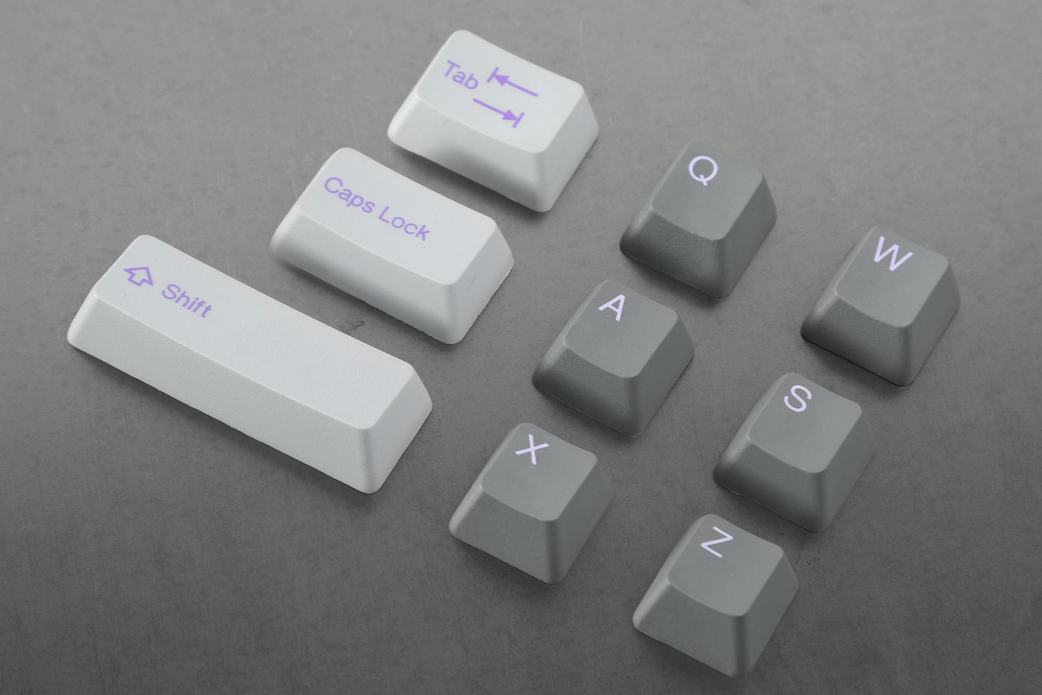 Slate/Lilac alpha keys with Cement/Lavender modifier keys