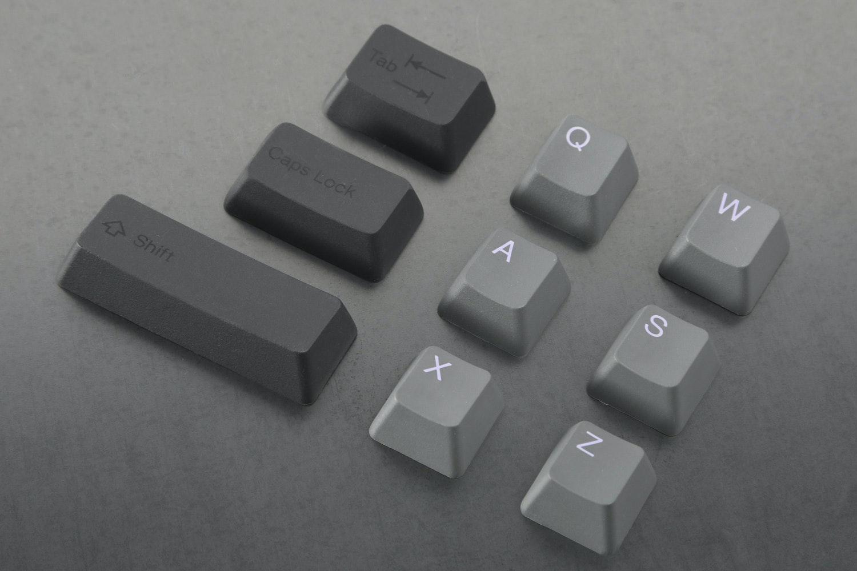Slate/Lilac alpha keys with Onyx/Onyx modifier keys