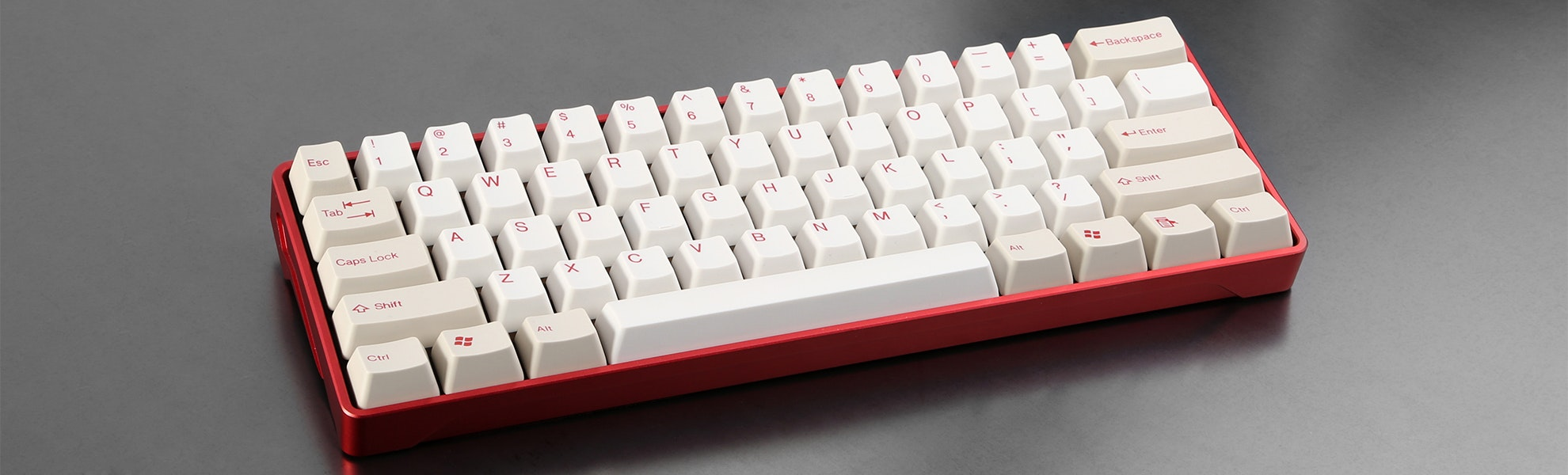 Tai-Hao Red ABS Doubleshot Keycap Set