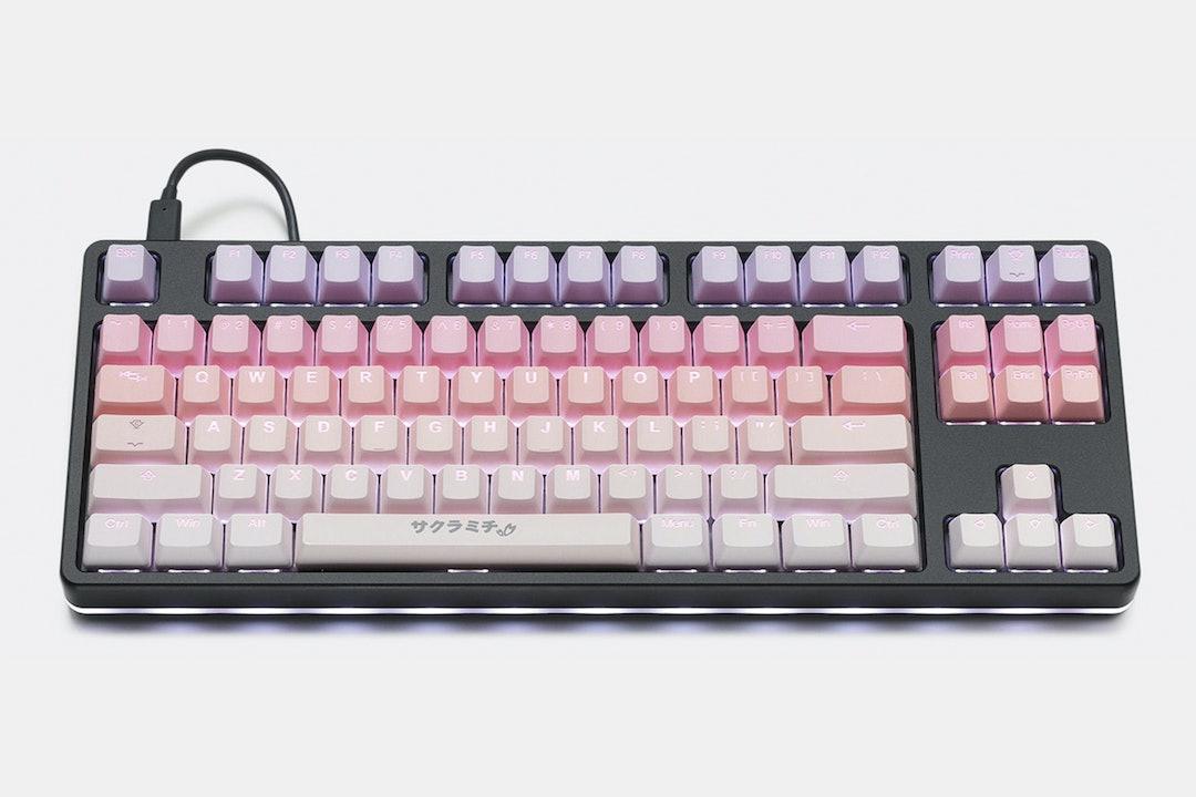 Tai-Hao Sakura Michi PBT Backlit Keycap Set