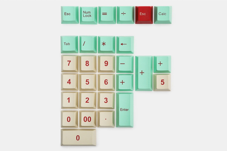 29-key alternate numpad kit – mint/beige (+ $18)