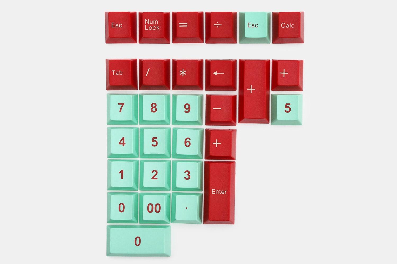 29-key alternate numpad kit – red/mint (+ $18)
