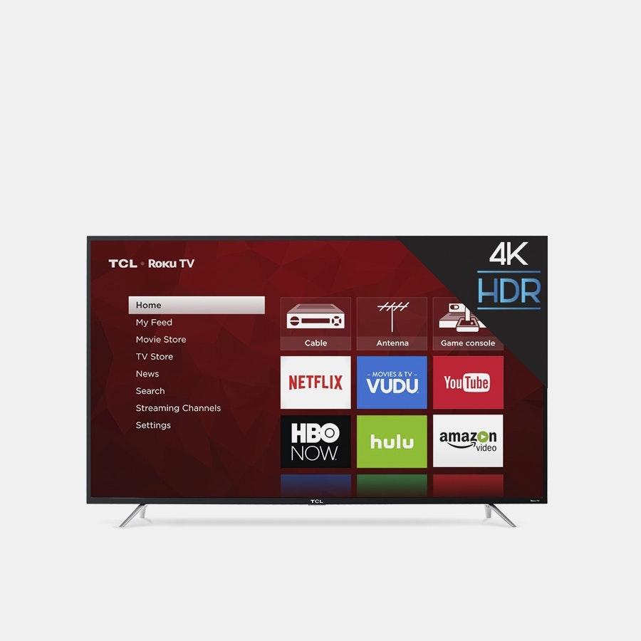 TCL 65-Inch 4K Ultra HD Roku Smart LED TV (2017)