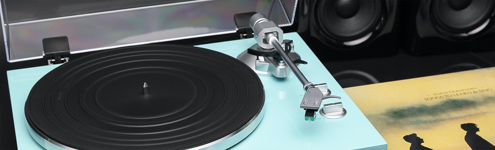 TEAC TN-300 Turquoise Turntable