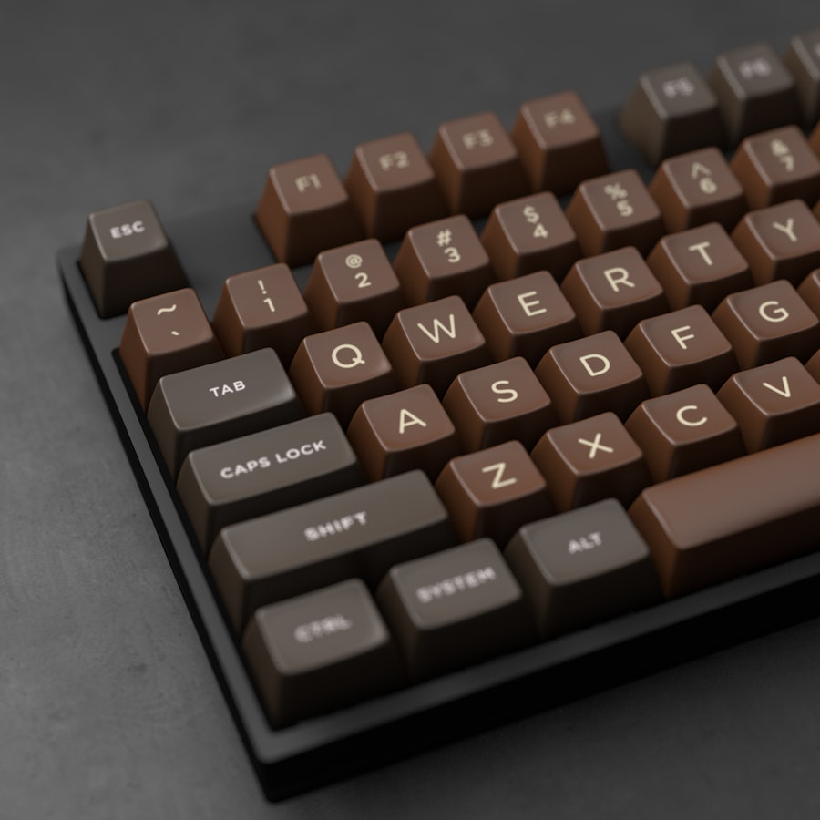 The Amazing Chocolatier Custom SA Keycap Set