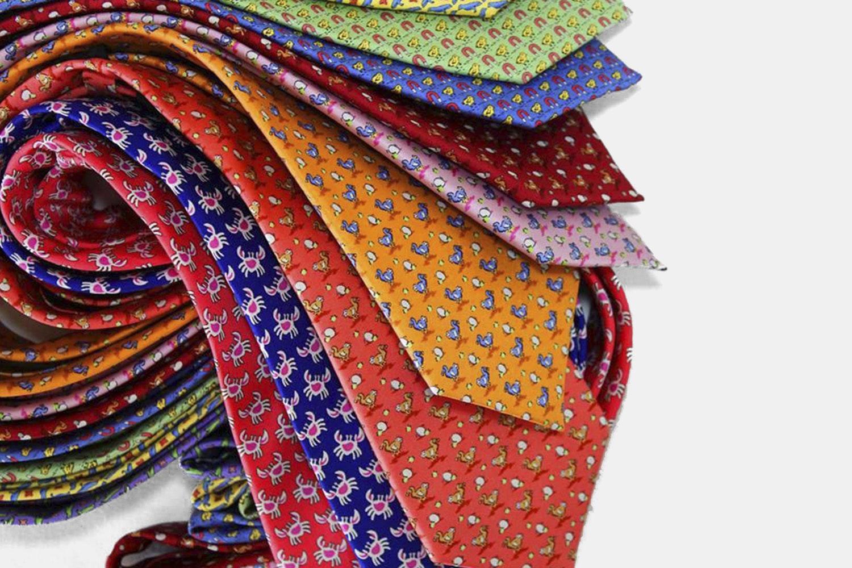 The Dark Knot Animal Motif Silk Ties