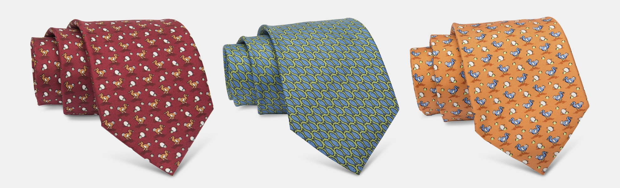 The Dark Knot Animal Motif Silk Ties