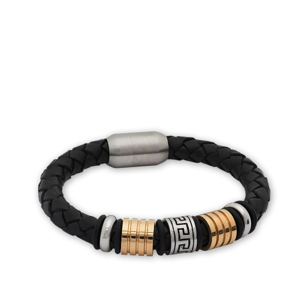 The Dark Knot Leather & Metal Bracelets