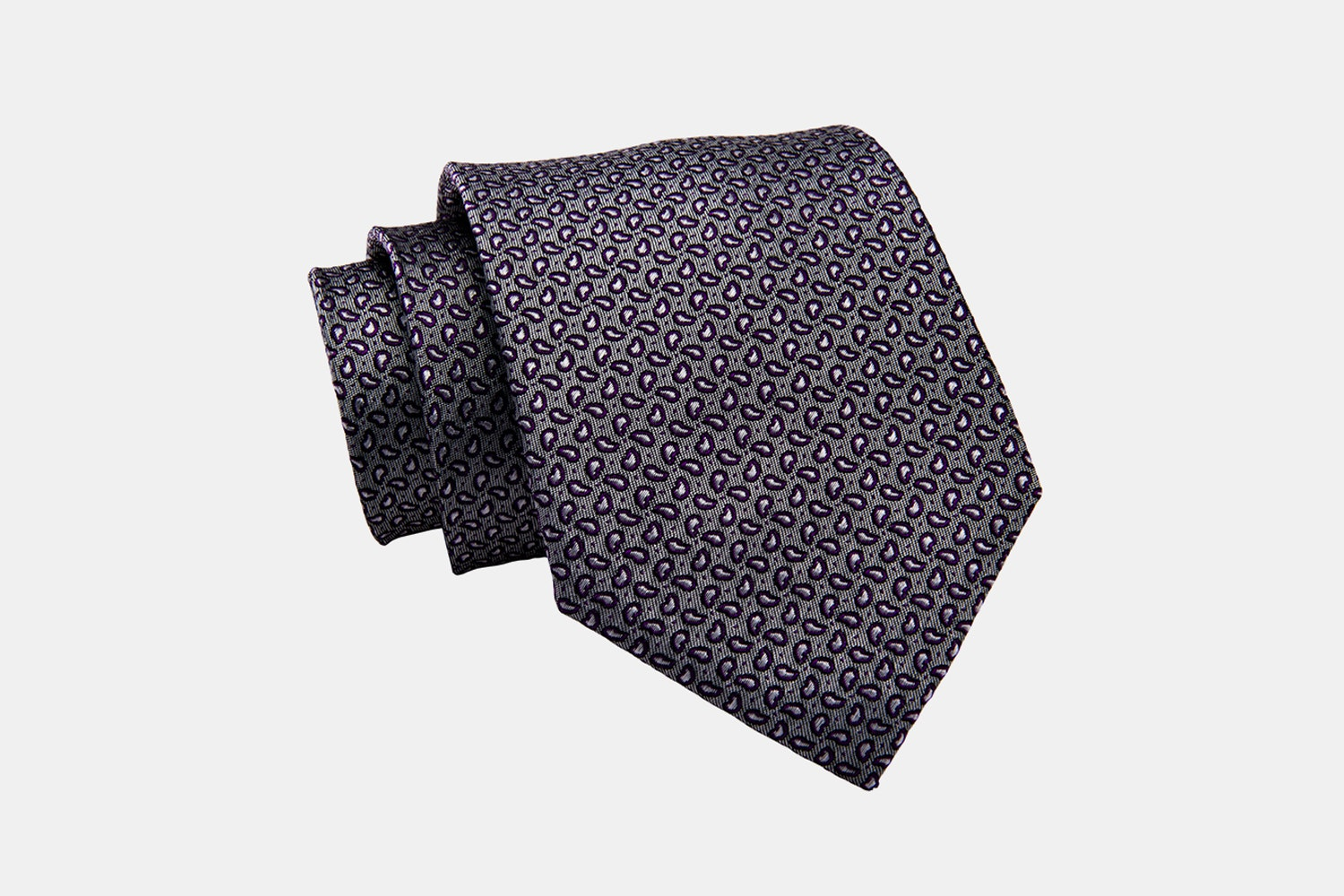 Brentwood Abstract Silk Tie, Grey / Burgundy (-$15)