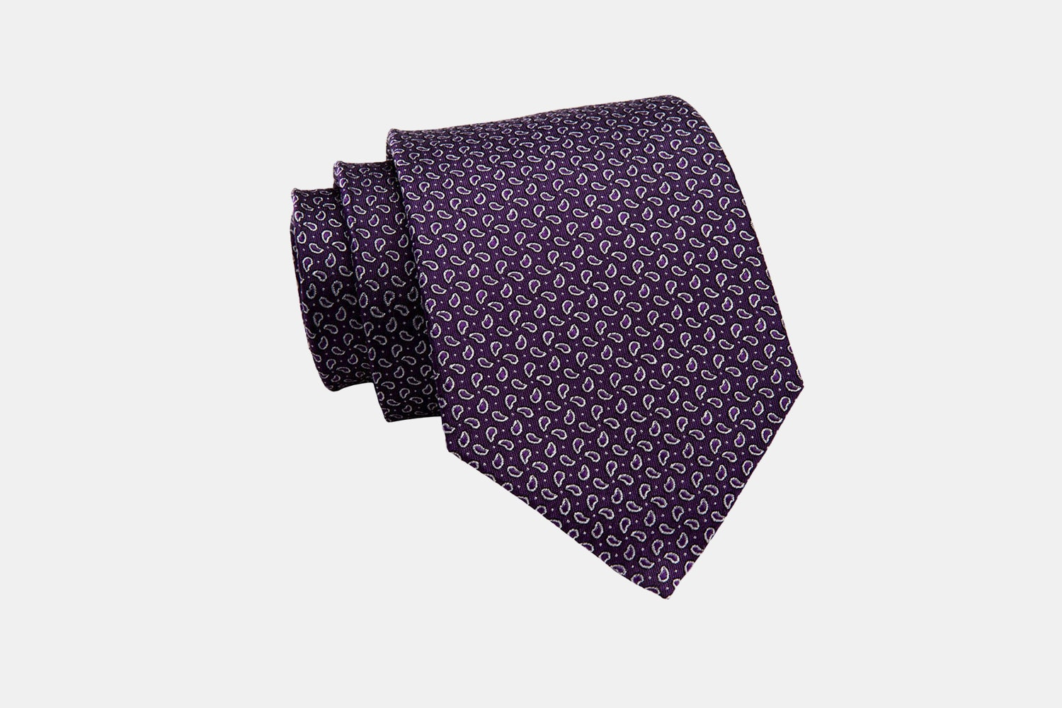 Brentwood Abstract Silk Tie, Purple / Silver (-$15)