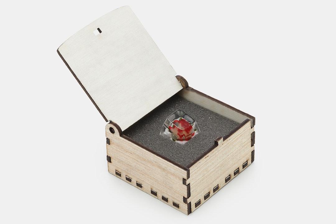 The Eye Key Rose Resin Artisan Keycap