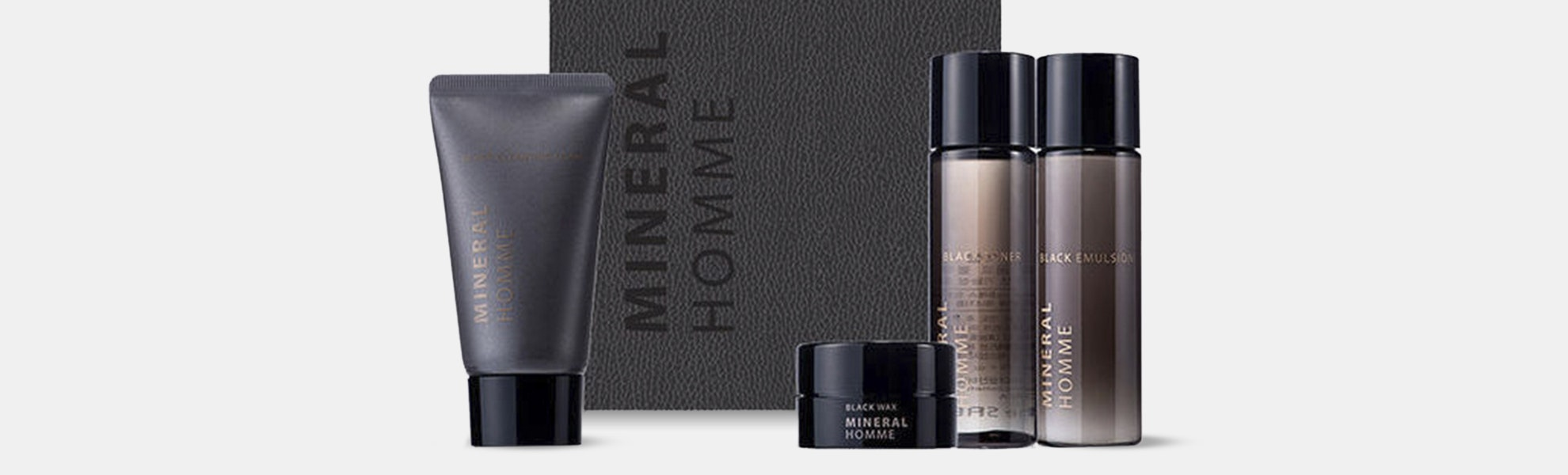 The Saem Mineral Homme Black Mini Kit