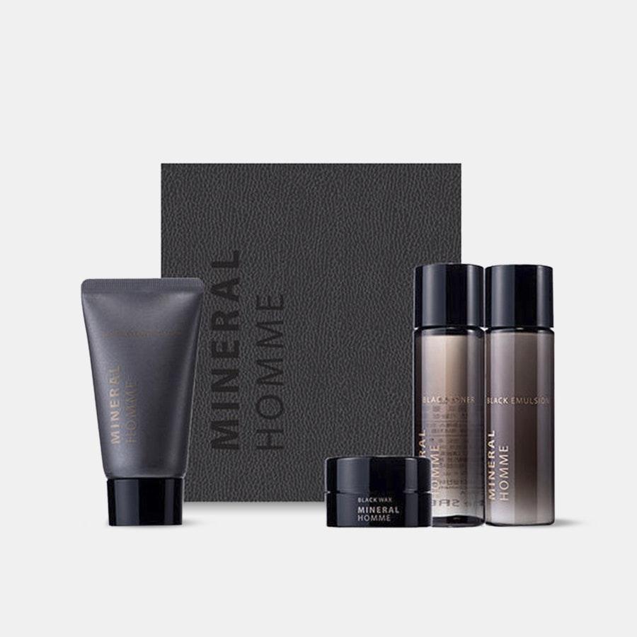 The Saem Mineral Homme Black Mini Kit