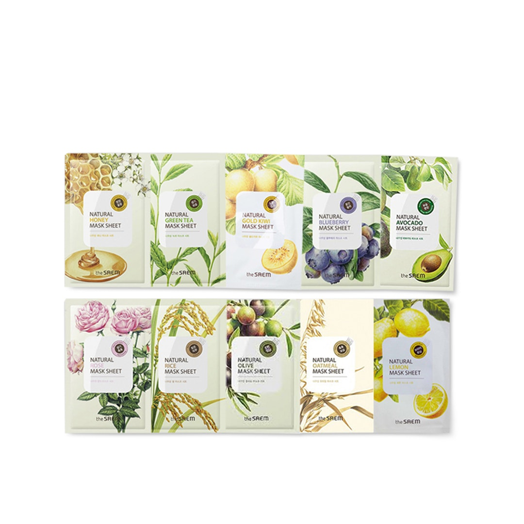 The Saem Natural Assorted Face Masks (10-Pack)