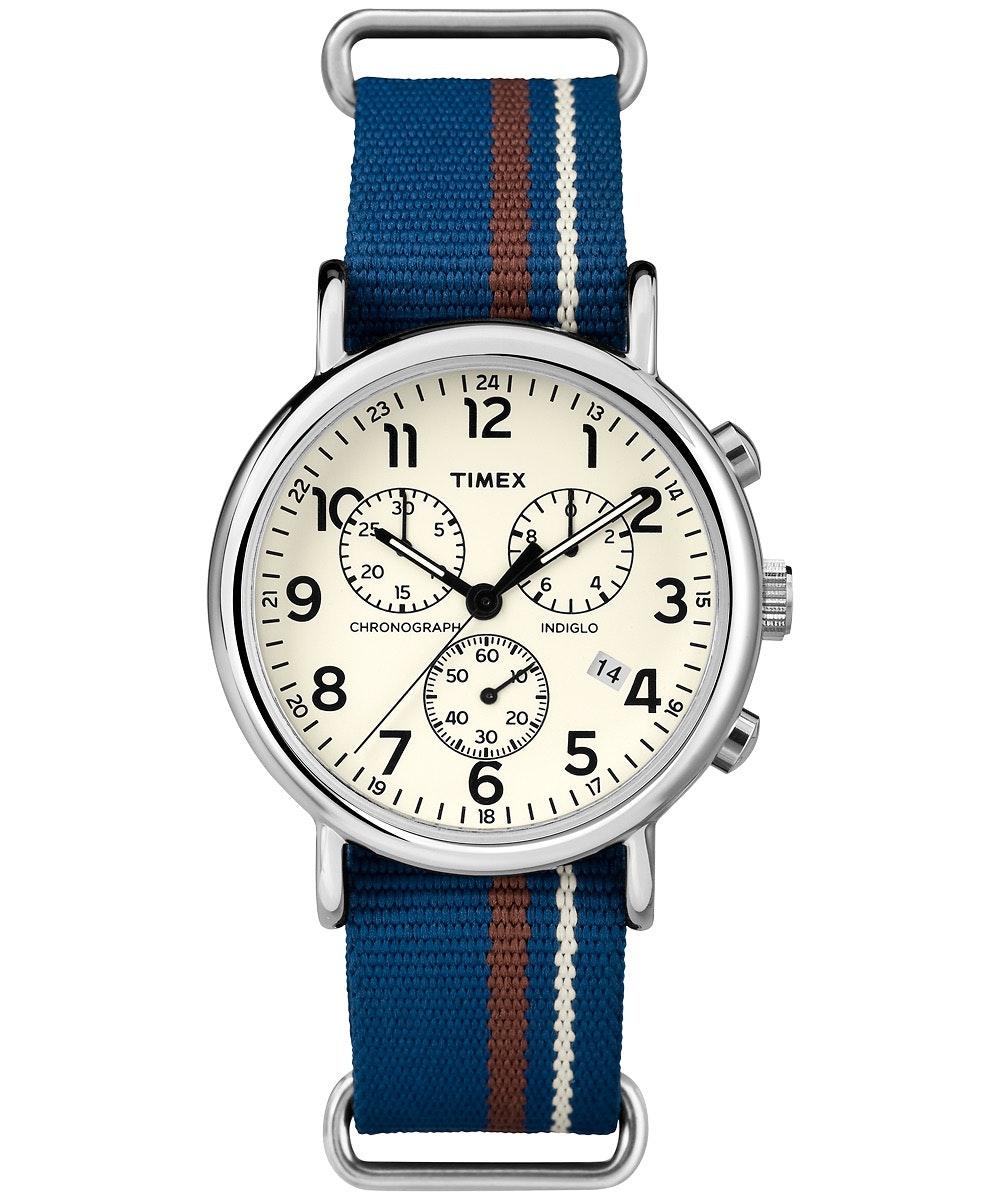 White dial, blue nylon strap TW2P62400 (-$2)