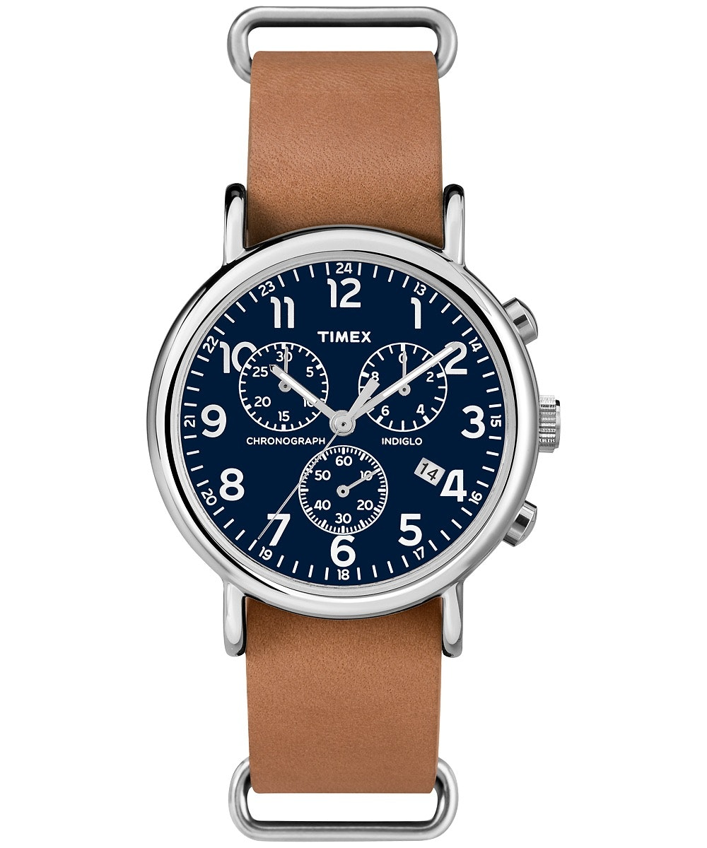 Blue dial, tan leather strap TW2P62300 (+$3)